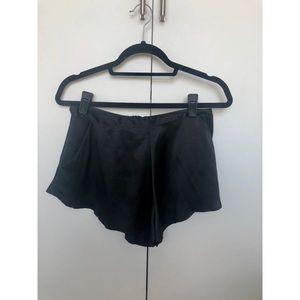 Bamba Shorts - Bamba 'Knight' silk shorts in black